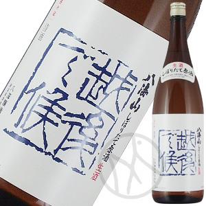八海山 しぼりたて生原酒 越後で候(青) 1800ml