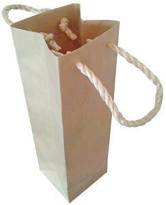 厚手クラフト地 手提げ袋 (720ml 1本入箱用)