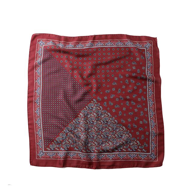 VINCENZO MIOZZA カシミヤシルク スカーフ 65×65 O 6867_SALE 【UNISEX】