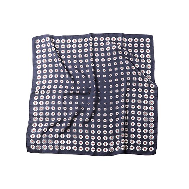 VINCENZO MIOZZA カシミヤシルク スカーフ 65×65 O 6731_SALE 【UNISEX】
