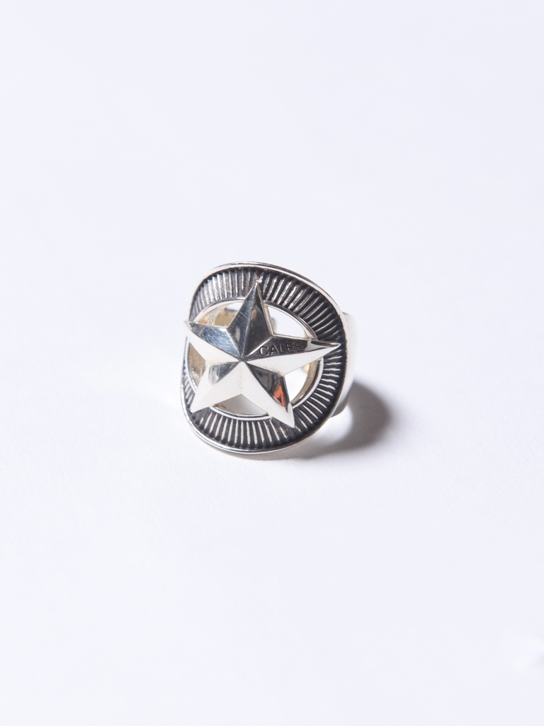 CALEE 「SILVER STAR CONCHO RING」 SILVER 925製 リング