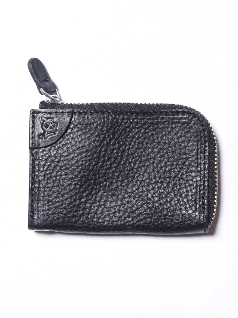 CALEE  「LEATHER EMBOSSING LEATHER ZIP MULTI COIN CASE」  レザーコインケース
