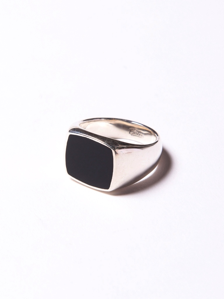 CALEE  「RESIN SIGNET RING」 SILVER 925製 シグネットリング