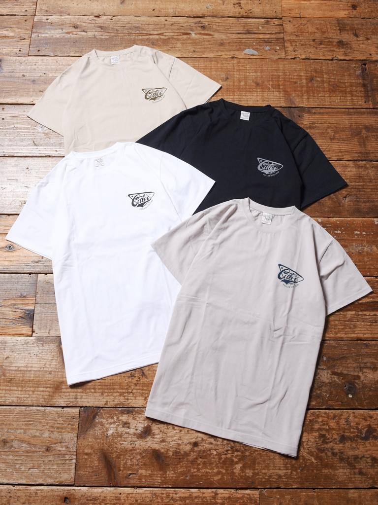 CALEE  「LOGO PRINT STRETCH T-SHIRT」   プリントティーシャツ