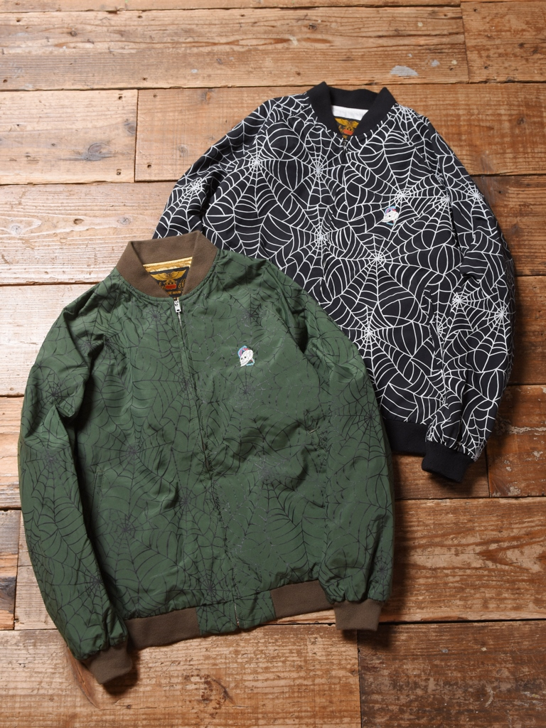 CALEE   「ALLOVER SPIDERWEB PATTERN LIB JACKET 」  ナイロンスカジャン