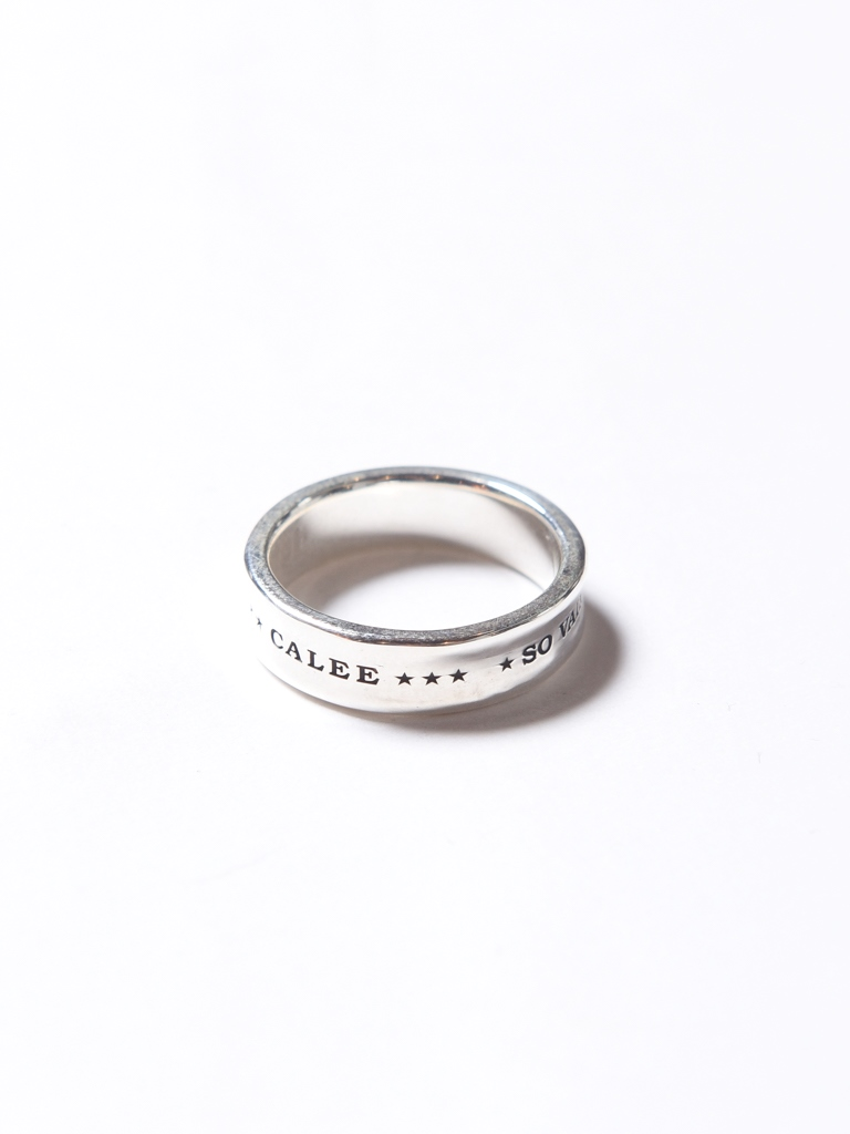 CALEE   「ROUND PLANE RING」 SILVER 925製 リング