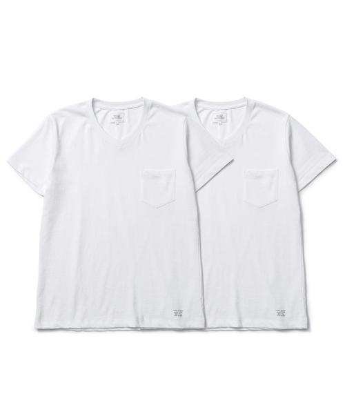 CRIMIE  「2P-PACK PREMIUM V NECK POCKET T-SHIRT」 2枚組Vネックポケットティーシャツ