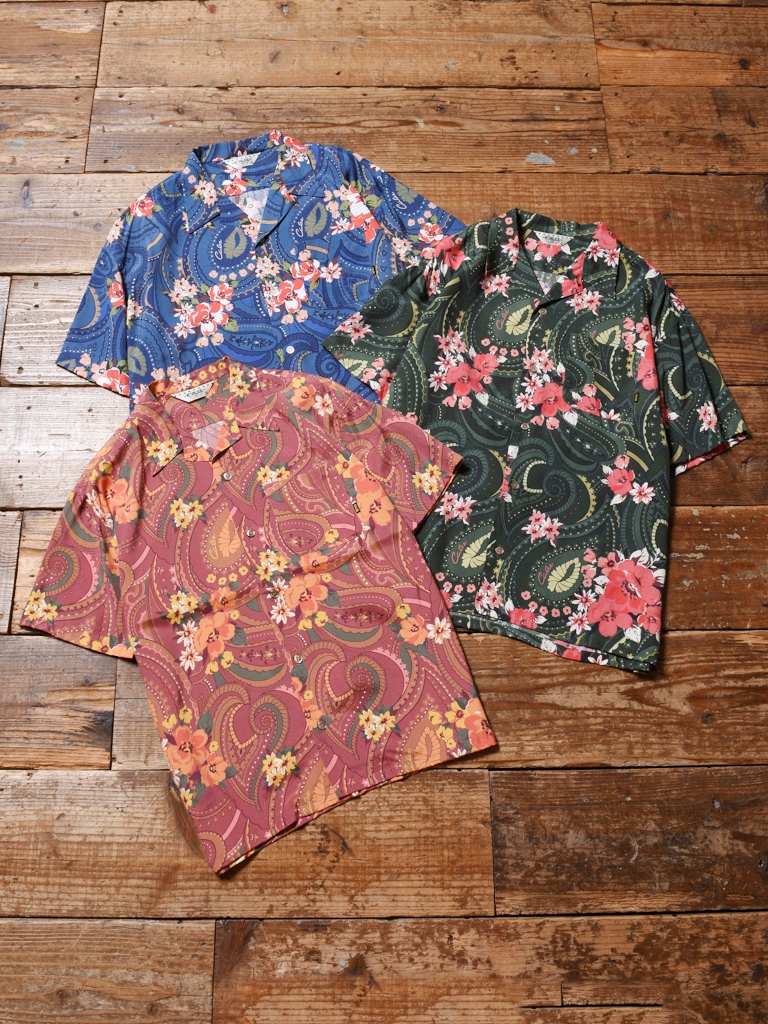 CALEE  「PAISLEY PATTERN ALOHA S/S SHIRT」 オープンカラーアロハシャツ