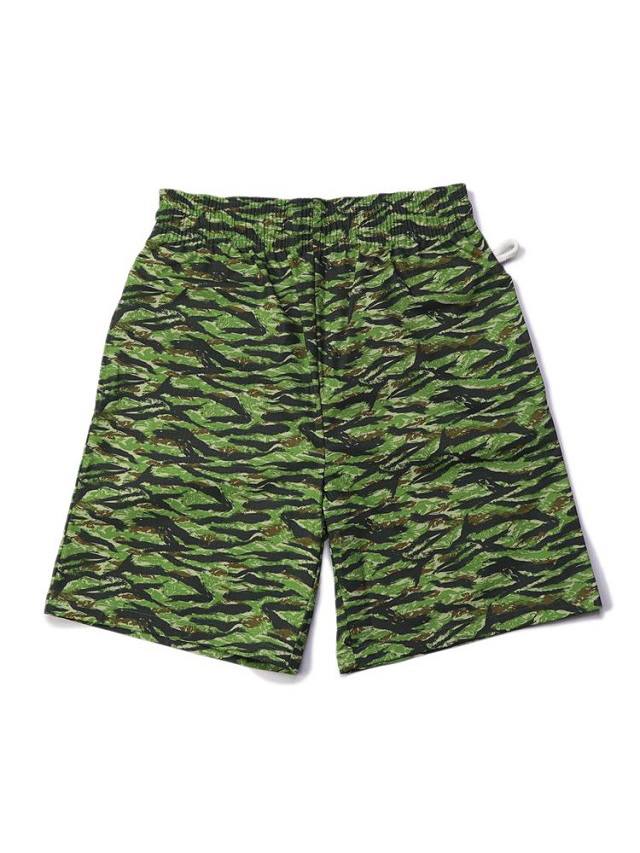 COOKMAN 「Chef Pants Short Ripstop Camo Green(Tiger) 」 シェフパンツショート