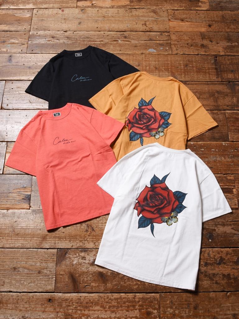 CALEE × MIHO MURAKAMI  「BINDER NECK ROSE VINTAGE T-SHIRT 」    プリントティーシャツ