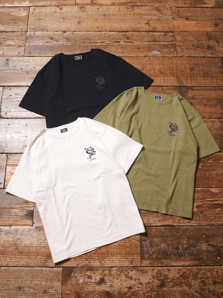 CALEE  「BOAT NECK DROP SHOULDER T-SHIRT 」    ボートネックドロップショルダー ティーシャツ