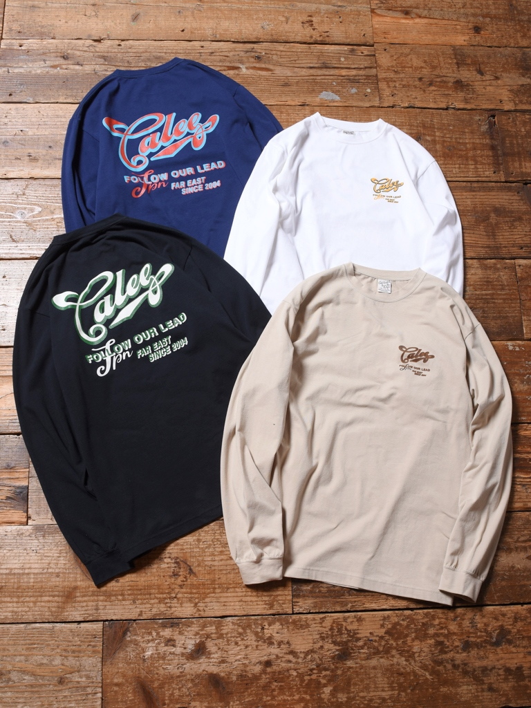 CALEE  「STRETCH L/S T-SHIRT」   プリントロンティー