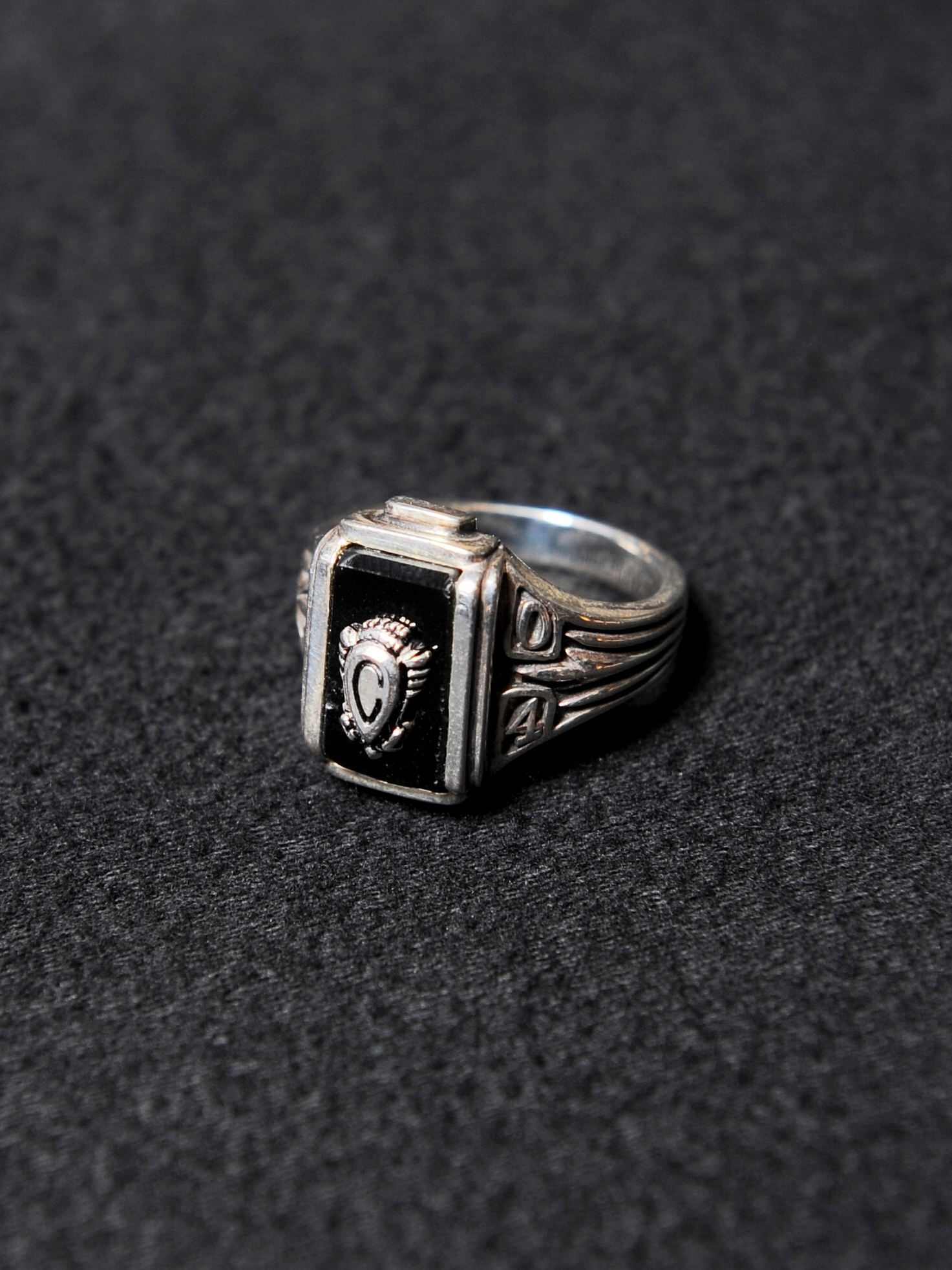 CALEE  「PINKIE COLLEGE RING 〈SILVER 925 〉」 SILVER 925製 ピンキーカレッジリング