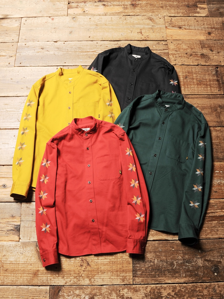 CALEE  「TWILL BAND COLLAR WORK SHIRT 」 バンドカラーシャツ