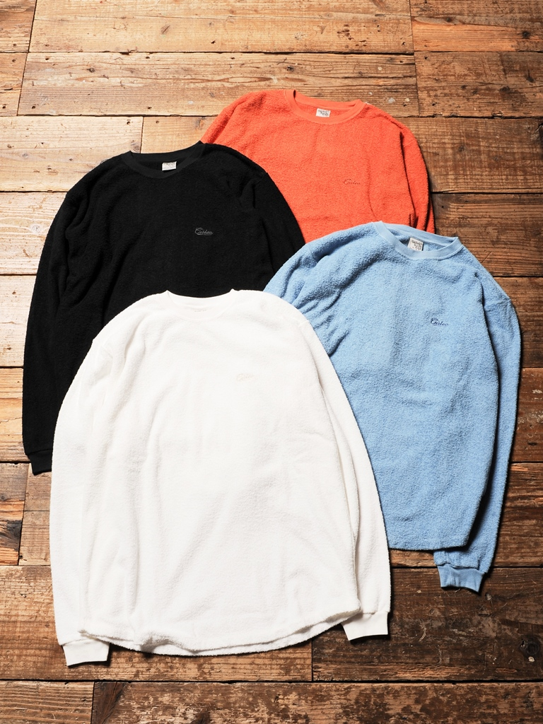 CALEE 「 CREW NECK PILE L/S CUTSEW 」 ロングスリーブパイルカットソー