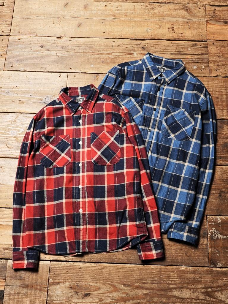 CALEE  「 INDIGO L/S CHECK SHIRT 」    チェックシャツ