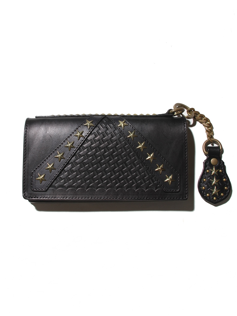 CALEE  「REBEL FLAG STUDS LEATHER LONG WALLET 」 レザーロングウォレット