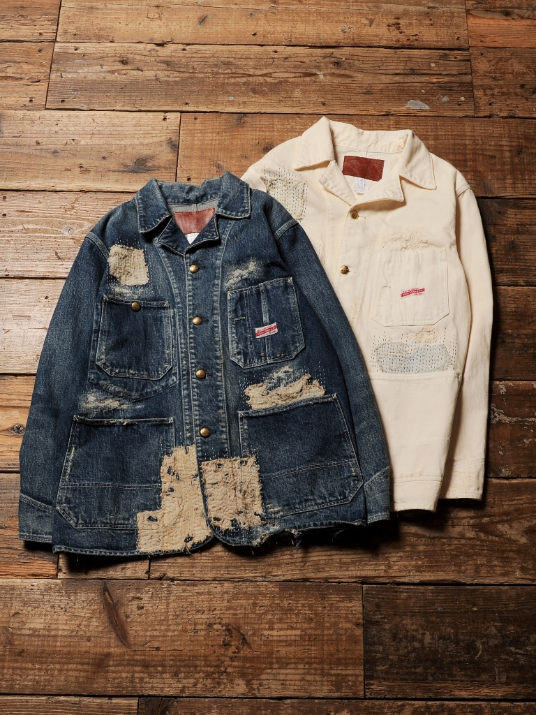 CALEE   「STITCHED COVERALL JACKET 」  USED 加工デニム カバーオールジャケット