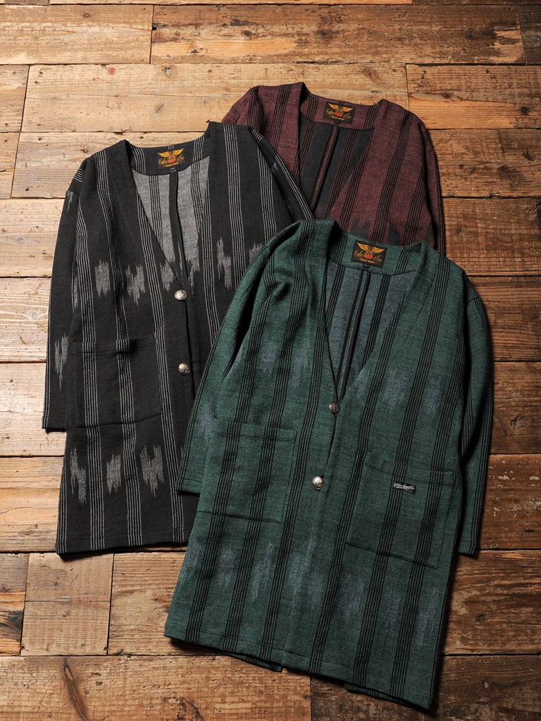 CALEE  「NATIVE JACQUARD GOWN COAT 」  ガウンコート