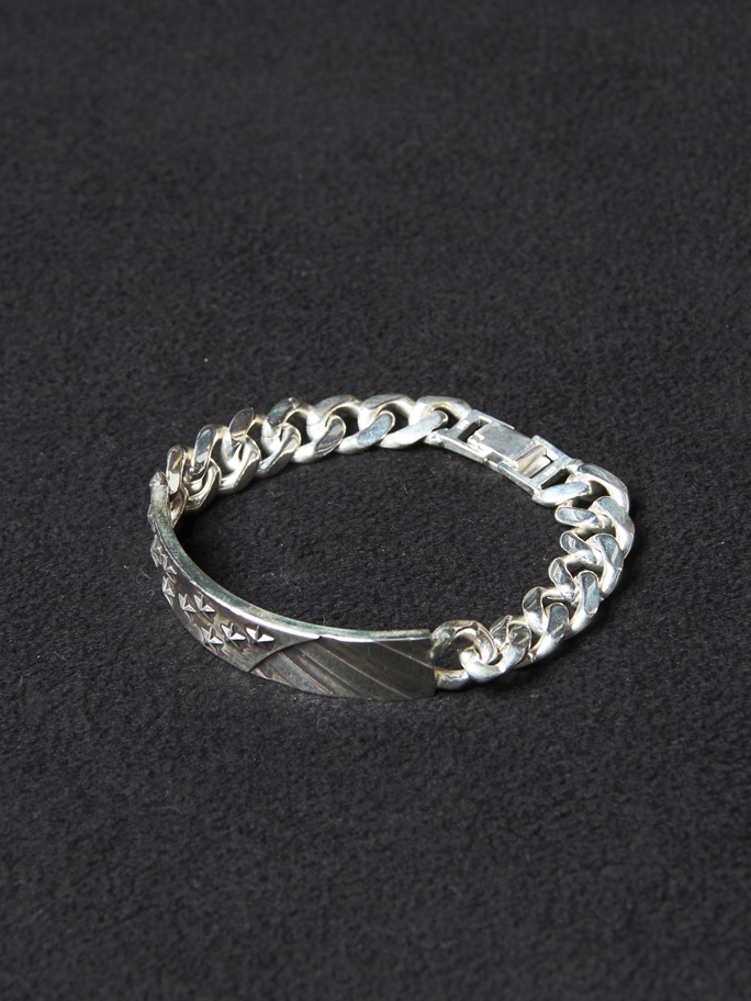 CALEE  「THE STARS AND STRIPES CHAIN BRACELET 〈SILVER 925〉」 SILVER 925 製 チェーンブレスレット