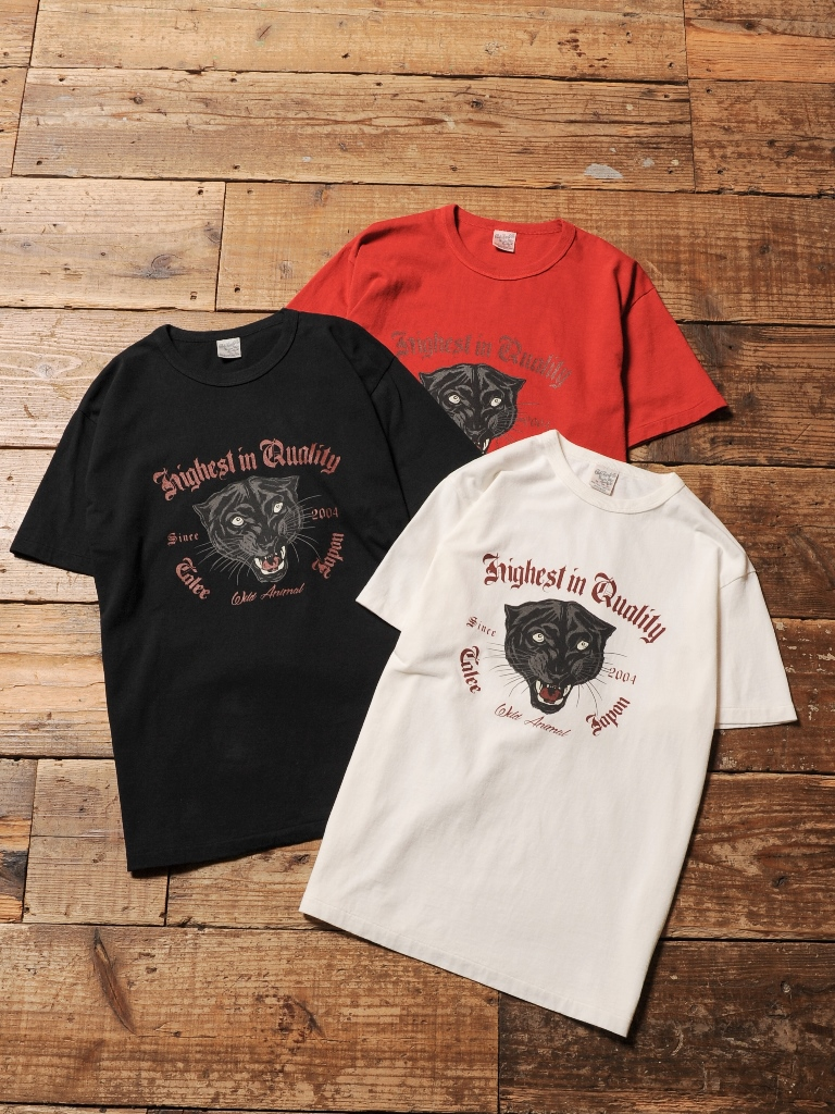 CALEE  「WASHED PANTHER  T-SHIRT」 プリントティーシャツ