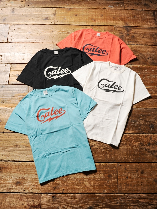 CALEE  「WASHED CALEE LOGO T-SHIRT 」 プリントティーシャツ