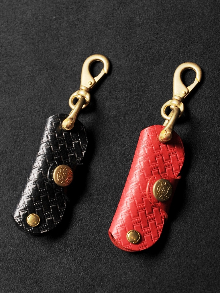 CALEE  「LEATHER STUDS KEY CASE KEY RING 」  キーケースキーリング