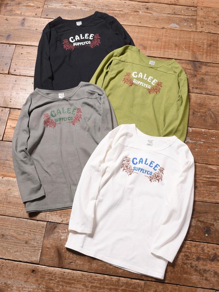 CALEE  「V NECK 3/4 SLEEVE FOOTBALL T-SHIRT  」 フットボールティーシャツ