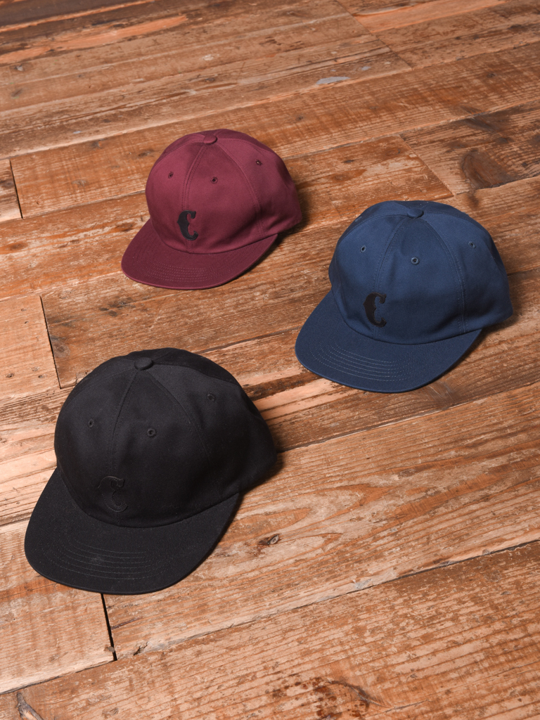 CALEE  「COTTON TWILL LEATHER WAPPEN CAP」 ワッペンキャップ