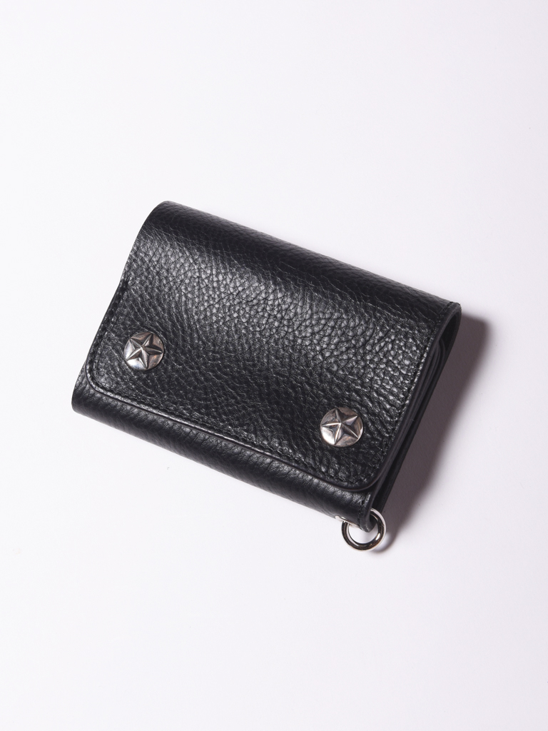 CALEE  「SILVER STAR CONCHO FLAP LEATHER HALF WALLET」 レザーハーフウォレット