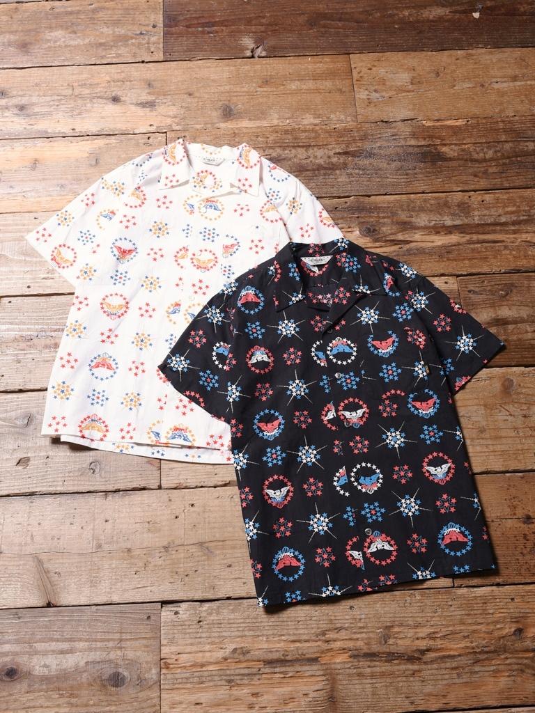 CALEE  「 ALLOVER NATIVE EAGLE PATTERN S/S SHIRT 」    オープンカラーシャツ