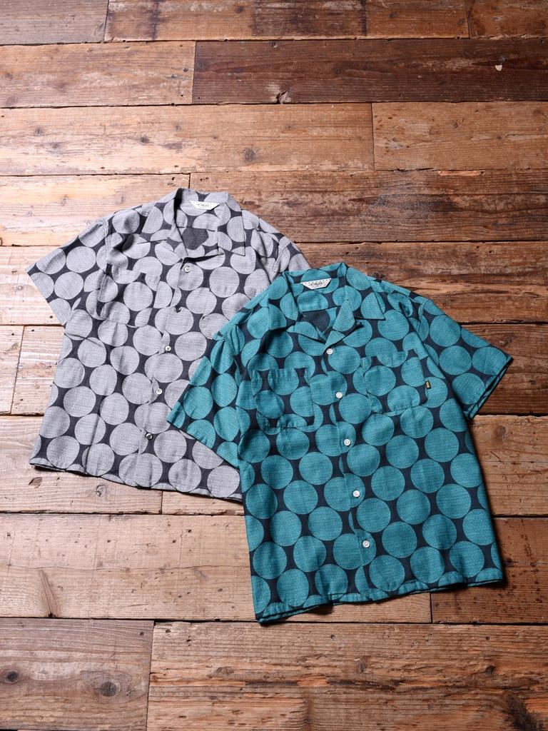CALEE  「POLKA DOT JACQUARD S/S SHIRT 」    オープンカラーシャツ
