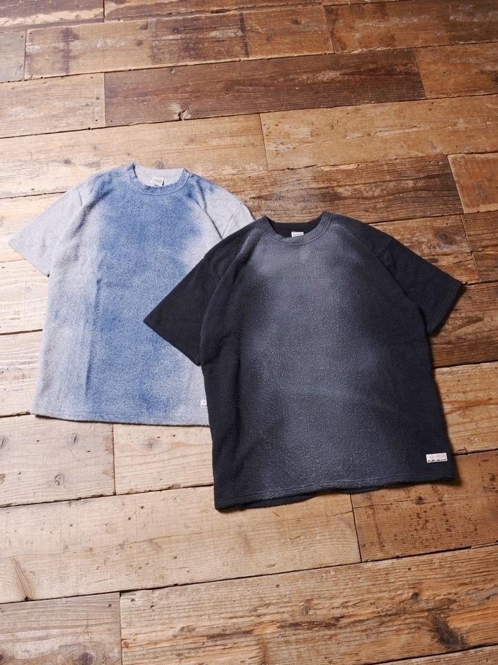 CALEE   「 USED PILE T-SHIRT 」 USED加工 パイルティーシャツ