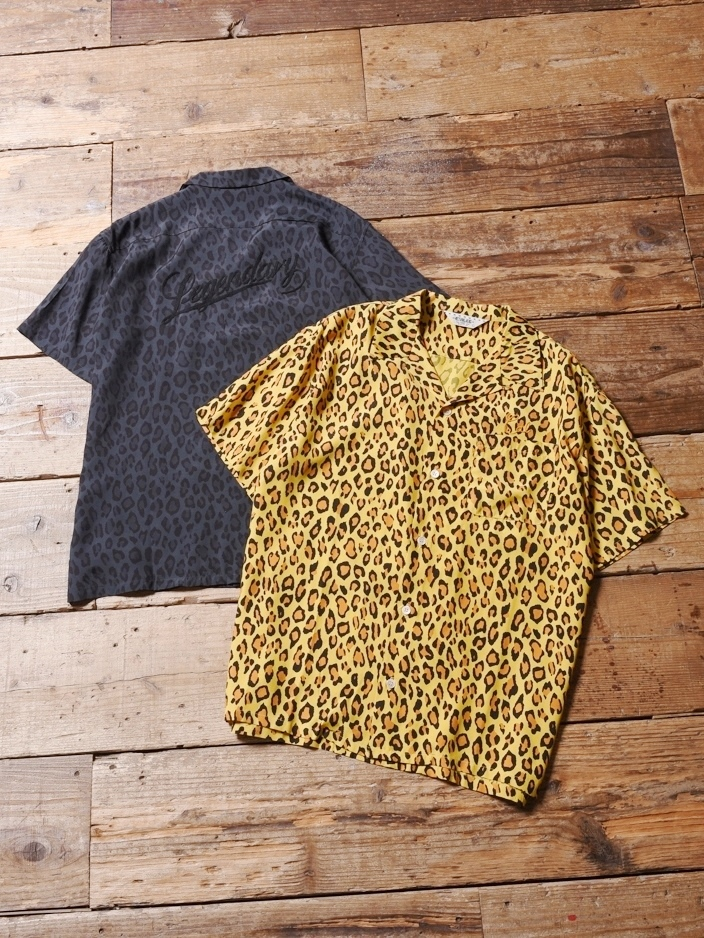 CALEE  「 RAYON LEOPARD PATTERN S/S SHIRT 」   レーヨンシャツ