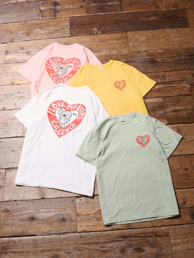 CALEE  「 WASHED SNEAKERS T-SHIRT 」    プリントティーシャツ