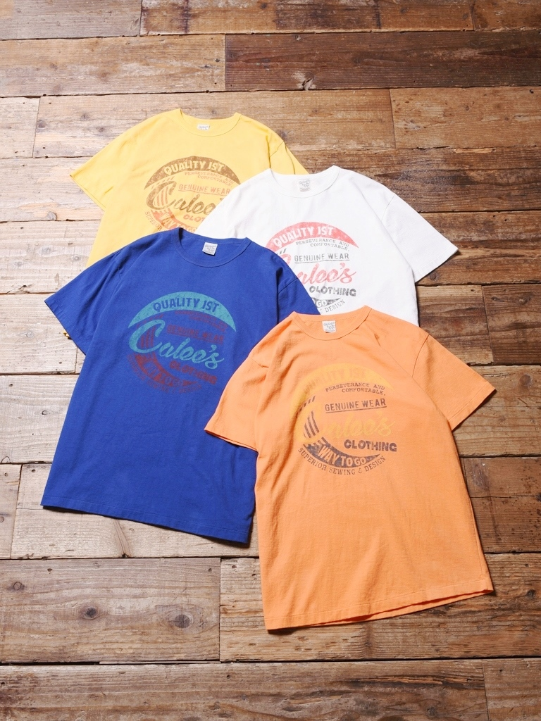 CALEE   「 WASHED CALEES T-SHIRT 」    プリントティーシャツ