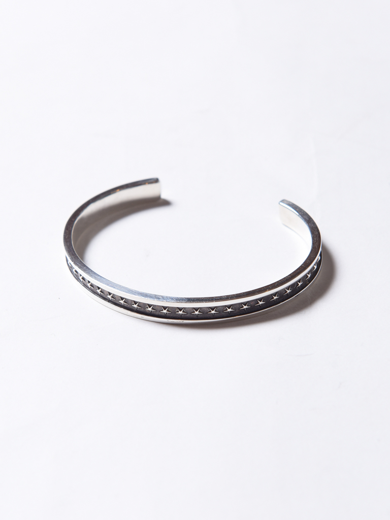 CALEE   「STAR NARROW BANGLE」 SILVER 925製 バングル