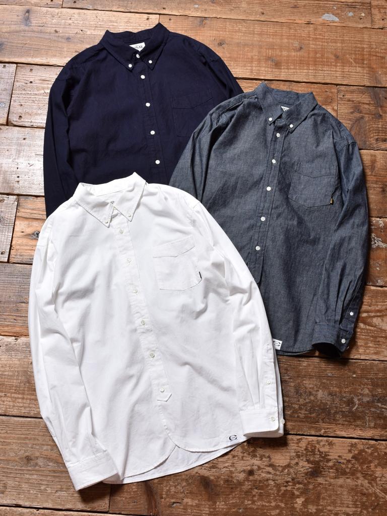 CALEE  「CHAMBRAY B.D L/S SHIRT」 シャンブレーボタンダウンシャツ