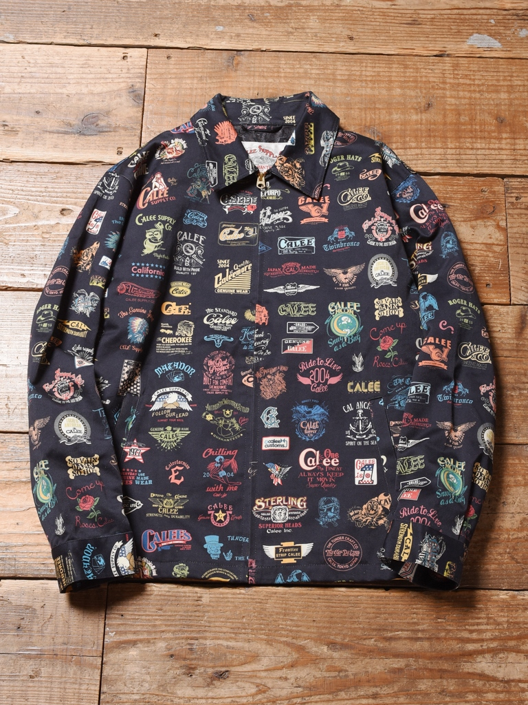CALEE  「ALLOVER ARCHIVE LOGO PATTERN JACKET」  アーカイブロゴ ワークジャケット