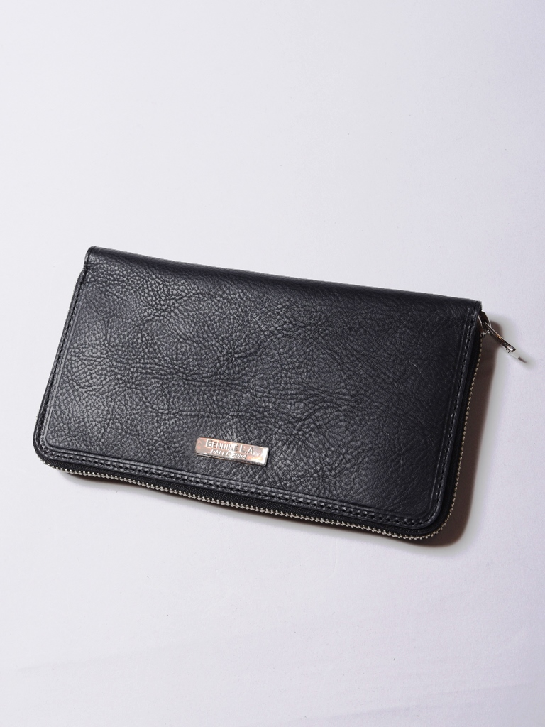 CALEE  「SILVER PLATE ROUND ZIP LEATHER LONG WALLET」 ラウンドジップ レザーロングウォレット