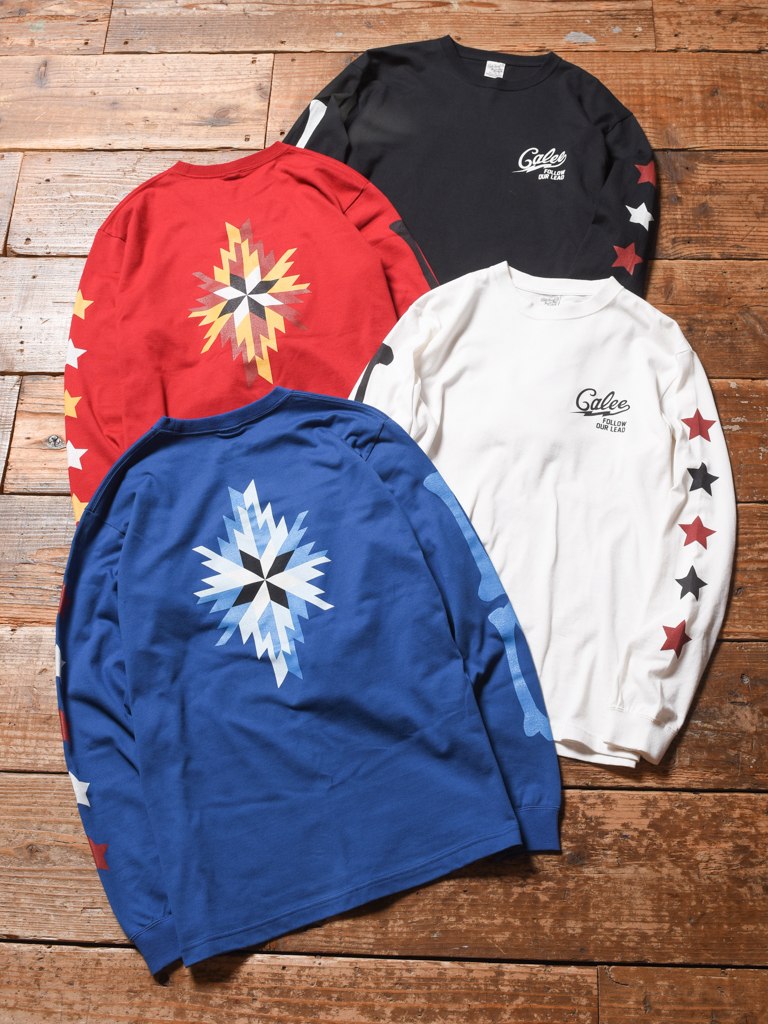 CALEE   「 L/S MULTI PRINT T-SHIRT」   プリントロンティー