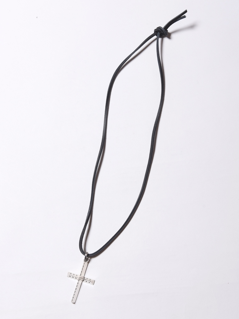 CALEE   「LEATHER STRAP CROSS HEAD NECKLACE」 ネックレス