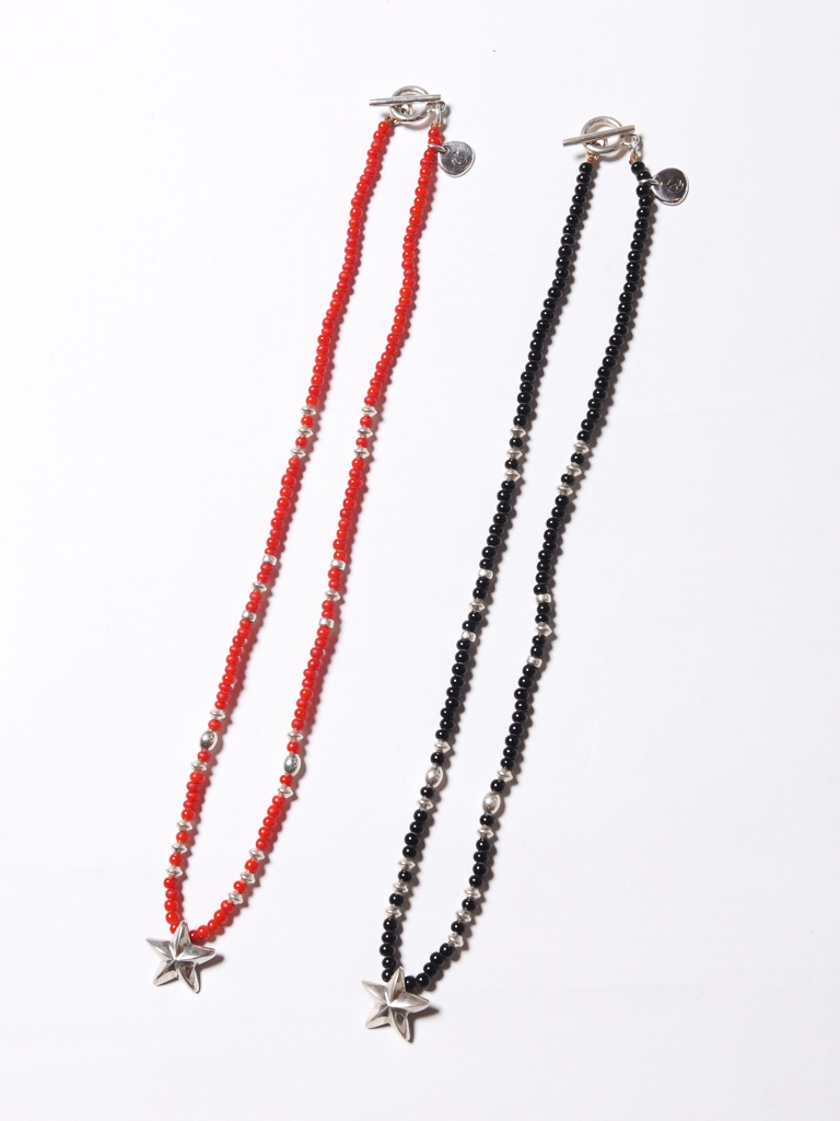 CALEE  「SILVER STAR HEAD BEADS NECKLACE」 ビーズネックレス