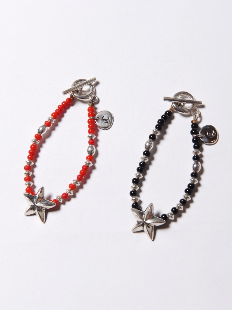 CALEE  「SILVER STAR HEAD BEADS BRACELET」 ビーズブレスレット