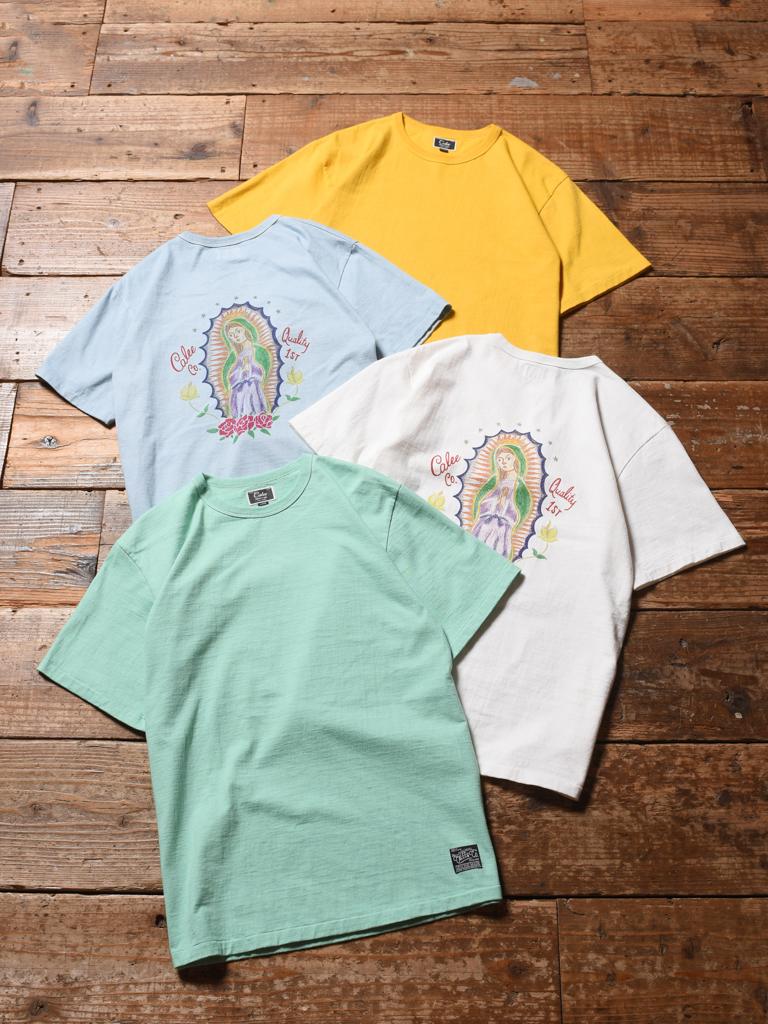 CALEE  「BINDER NECK MARIA T-SHIRT 」    プリントティーシャツ