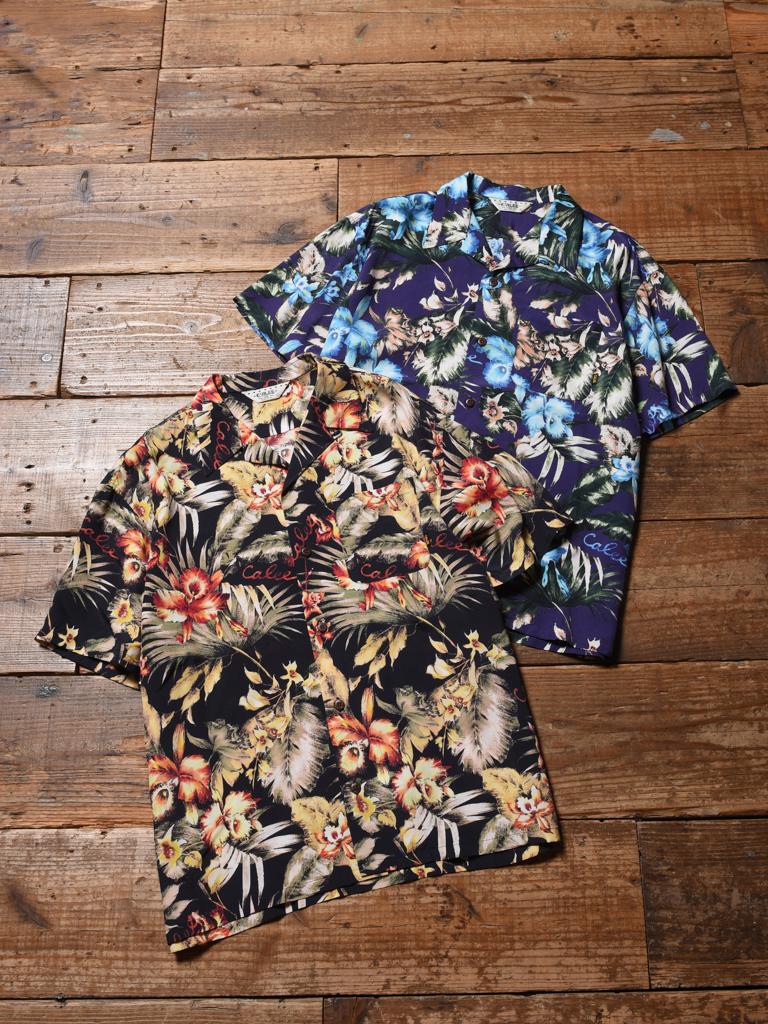 CALEE   「 HAWAIIAN S/S SHIRT 」    オープンカラーレーヨンアロハシャツ