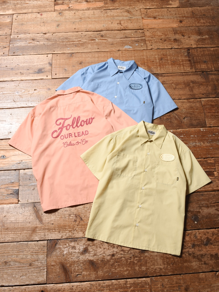 CALEE   「T/C BROAD S/S WORK SHIRT」    T/Cブロードワークシャツ