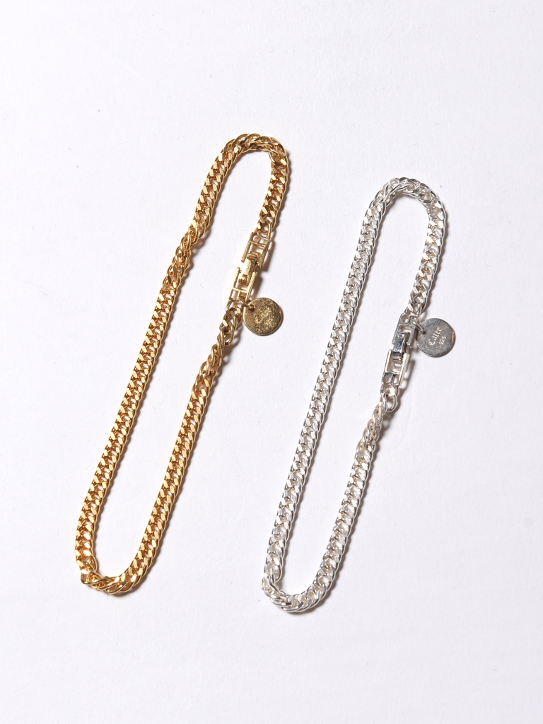 CALEE   「FLAT LINK CHAIN BRACELET」 SILVER925製 喜平チェーンブレスレット