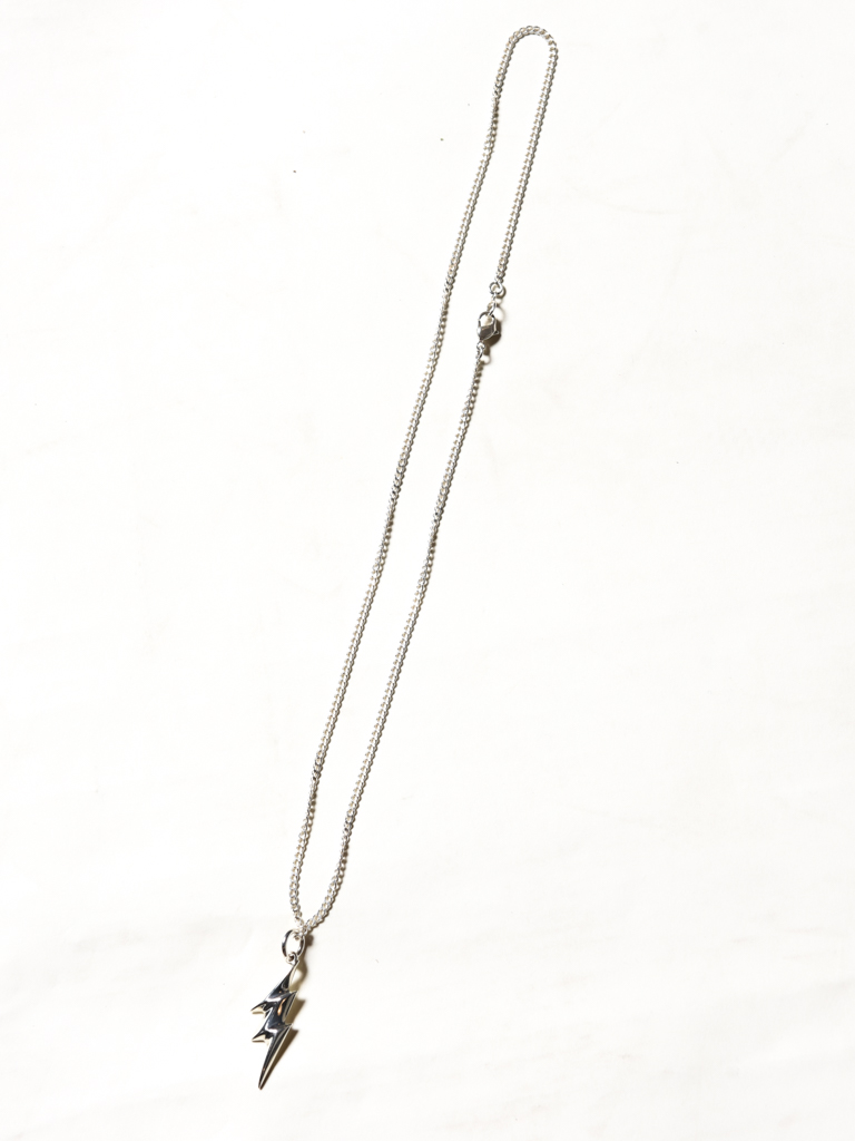 CALEE 「THUNDERBOLT TOP SILVER NECKLACE」 SILVER 925製 ネックレス