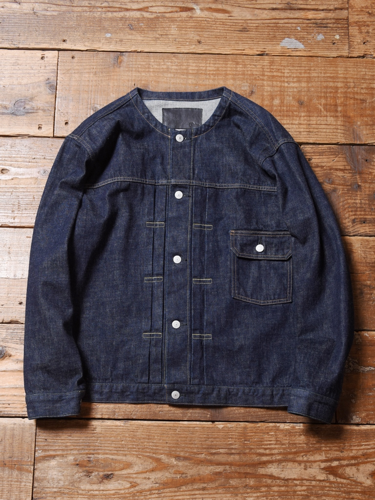 CALEE  「1ST TYPE NO COLLAR DENIM JACKET」  ノーカラーデニムジャケット
